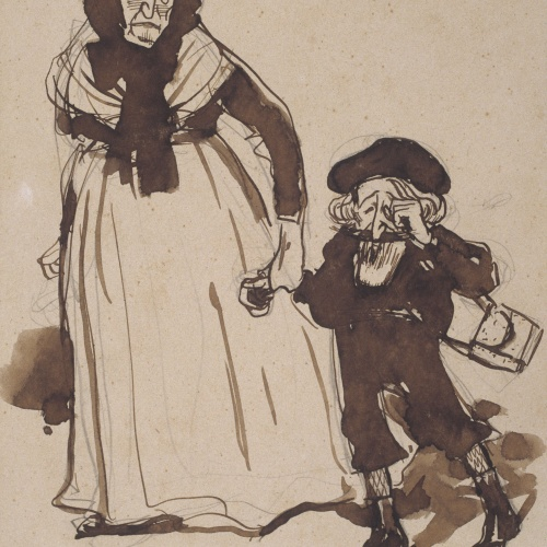 Ramon Casas - 'The mother's' child (caricature of Santiago Rusiñol) - 1907