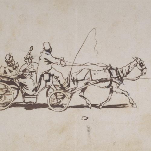 Ramon Casas - Al ayre llibre. Los uns van a dá una volta (Outdoor life. Some go riding) - 1889