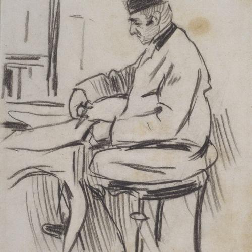 Ramon Casas - Cutting out coupons - 1891