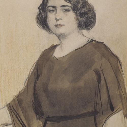 Ramon Casas - Portrait of Júlia Peraire - Circa 1920