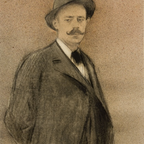 Ramon Casas - Portrait of Ignacio Zuloaga - Circa 1897-1899