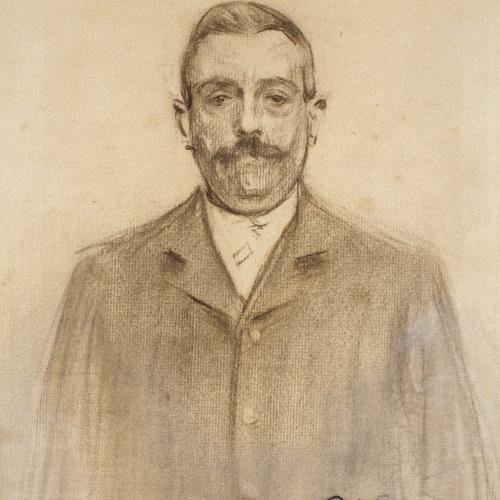 Ramon Casas - Retrat de Raimon Casellas - Cap a 1897-1899
