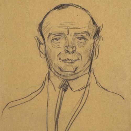 Ramon Casas - Retrato de Josep Clarà - Primer cuarto del siglo XX
