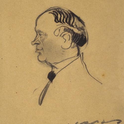 Ramon Casas - Portrait of Josep Clarà - First quarter of 20th century