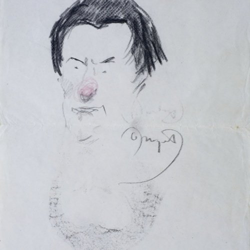 Oleguer Junyent - Caricatura del violinista Francesc Costa - Cap a 1920-1930
