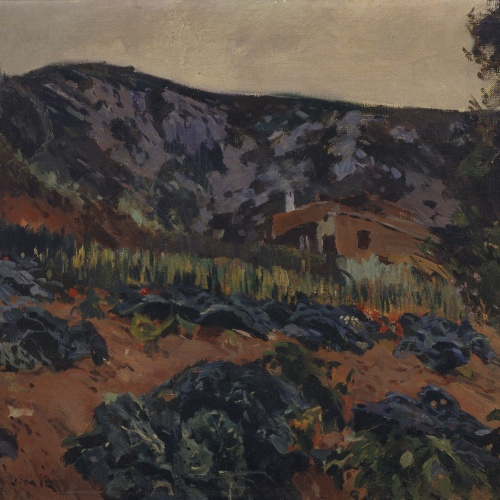 Joaquim Mir - Vegetable Garden with a Farmer's Cottage - Circa 1930-1939