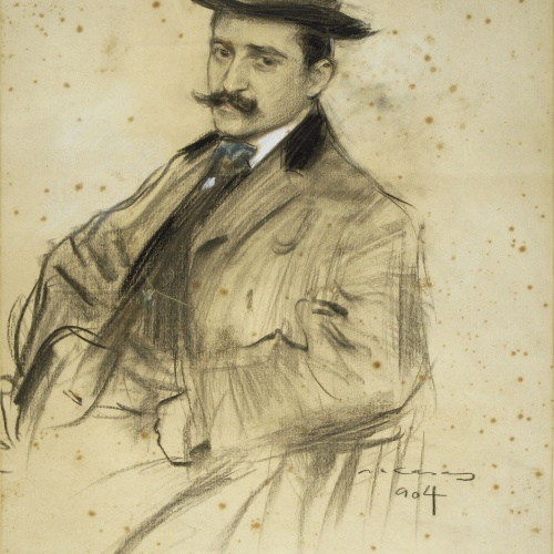 Ramon Casas - Retrato de Oleguer Junyent - 1904