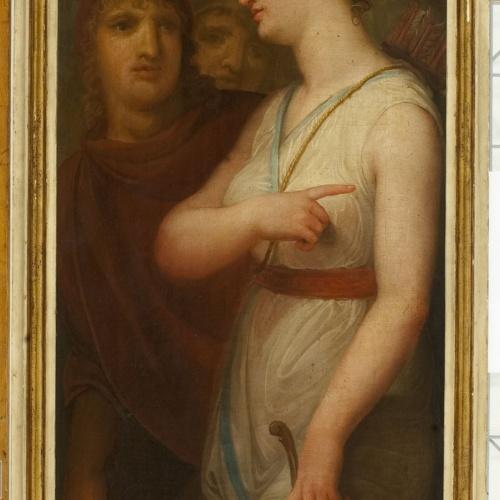Josep Bernat Flaugier - Dona amb arc - Cap a 1800-1810