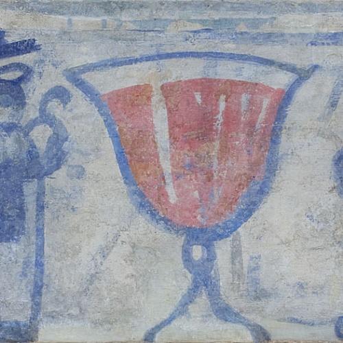 Xavier Nogués - Fragment de la decoració mural del celler de les Galeries Laietanes - 1915