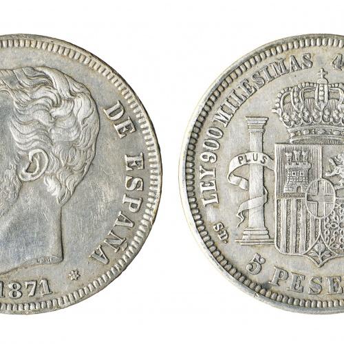 Amadeu I d'Espanya - 5 pessetes - 1871