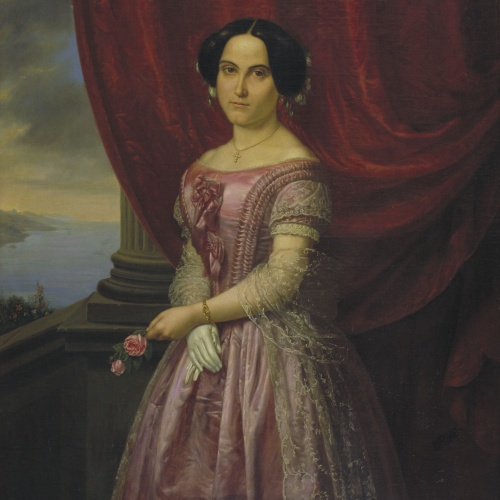 Josep Arrau Barba - Portrait of Rosa Rigalt Arrau - 1852