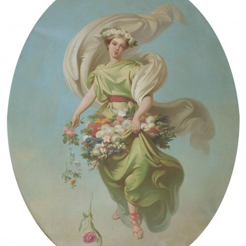 Claudi Lorenzale - Allegory of Spring - Circa 1847