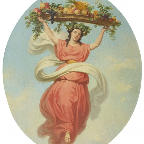Claudi Lorenzale - Allegory of Autumn - Circa 1847