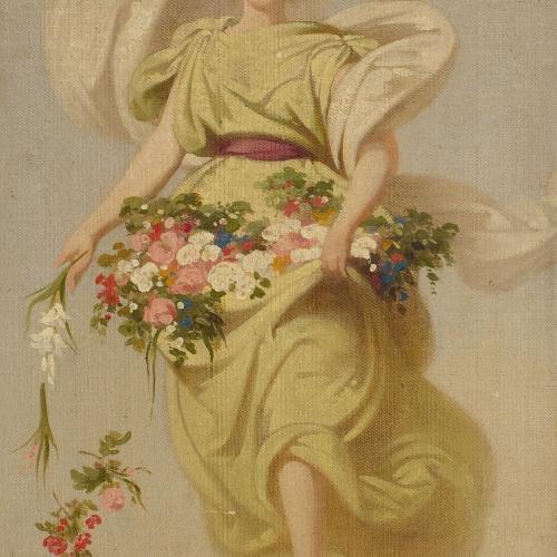 Claudi Lorenzale - Esbozo para «Alegoría de la Primavera» - Hacia 1847