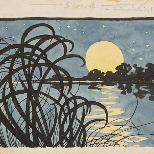 Alexandre de Riquer - Paisatge nocturn - Cap a 1890-1900