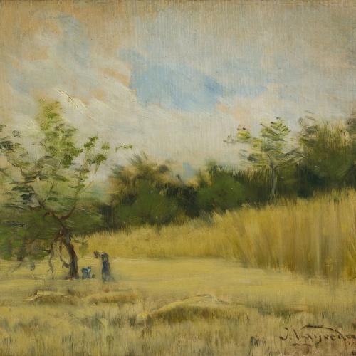 Joaquim Vayreda - Camp de blat (estudi) - Cap a 1887-1890