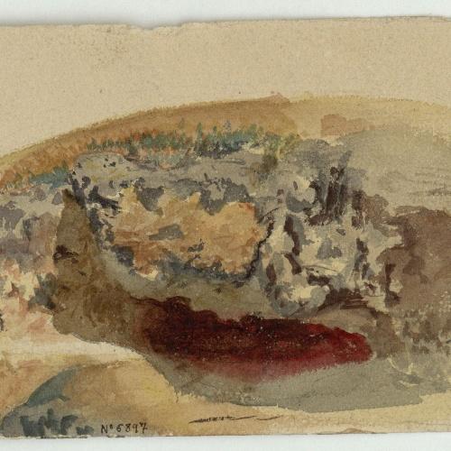 Marià Fortuny - Rocky Landscape - Circa 1853-1856