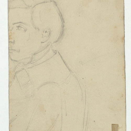Marià Fortuny - Male portrait - Circa 1856-1858