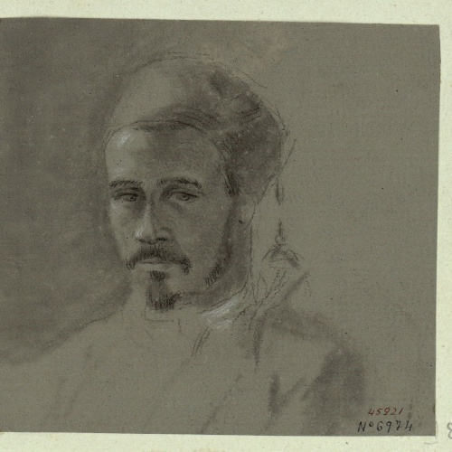 Marià Fortuny - Bust of a Turk - Circa 1856-1858