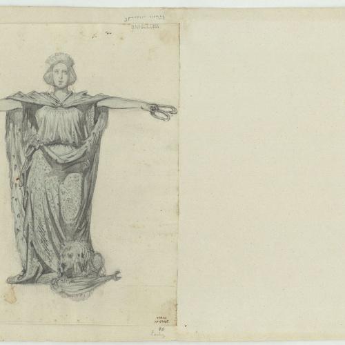 Marià Fortuny - Figure of a noblewoman, a symbol of Castile - Circa 1856-1858