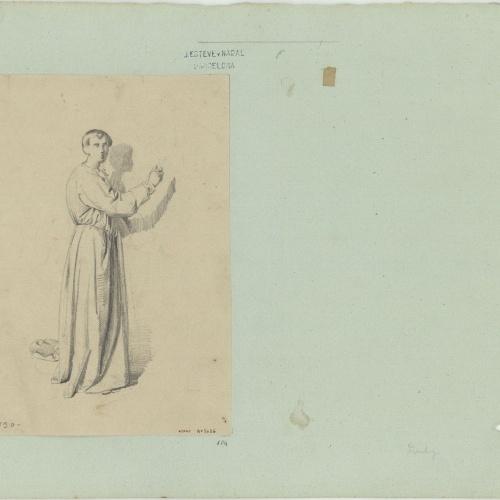 Marià Fortuny - Estudio académico de figura masculina - Hacia 1856-1858