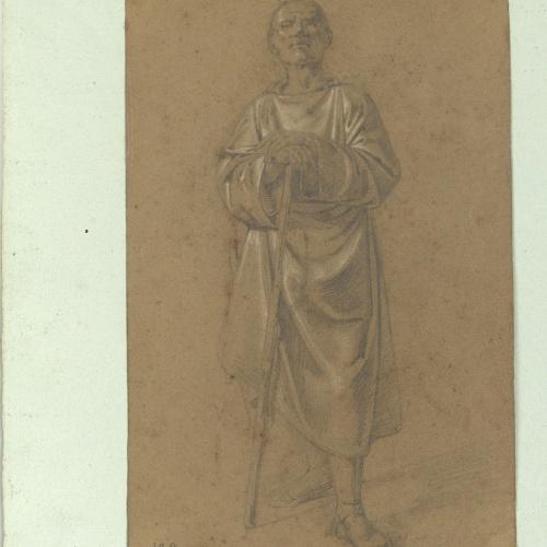 Marià Fortuny - Academic study of a male figure - Circa 1856-1858