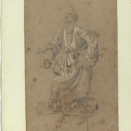 Marià Fortuny - Estudio académico de mendigo - Hacia 1856-1858