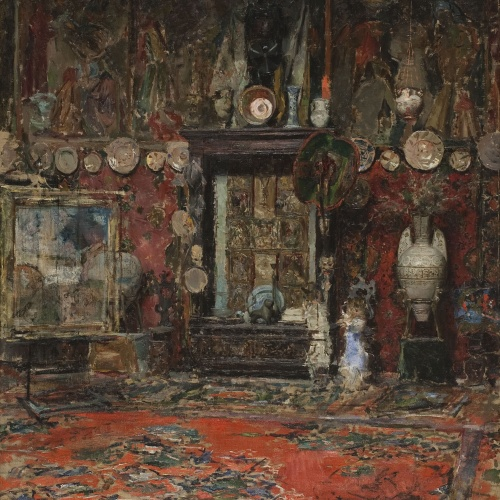 Ricardo de Madrazo - The Studio of Marià Fortuny in Rome - Rome, 1874