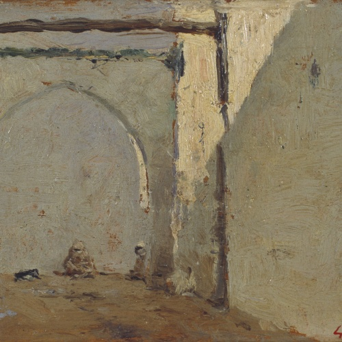 Marià Fortuny - Moroccan Street - Circa 1860-1862