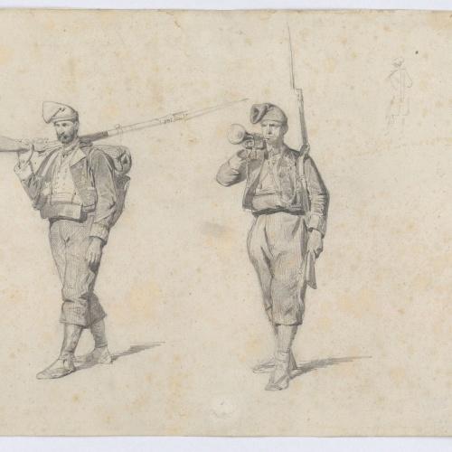 Marià Fortuny - Voluntaris catalans de la guerra d'Àfrica - 1860