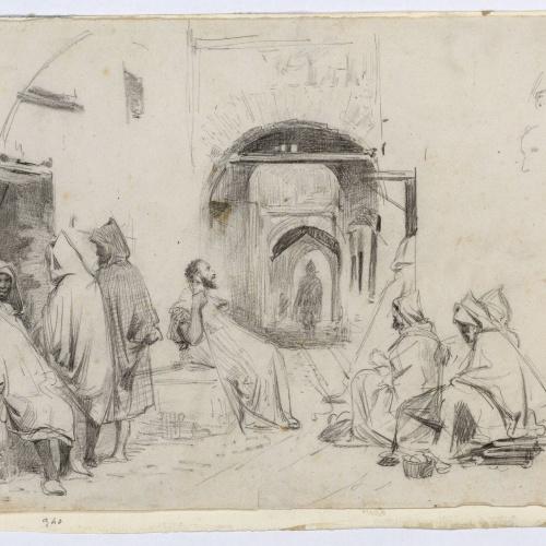 Marià Fortuny - Carrer dels perfumistes a Tetuan - 1860