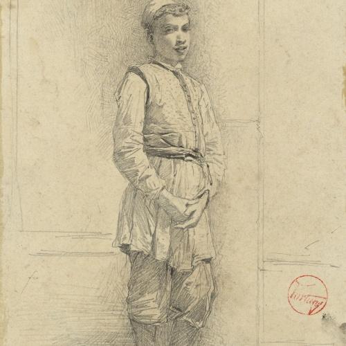 Marià Fortuny - Jove jueu - Cap a 1860