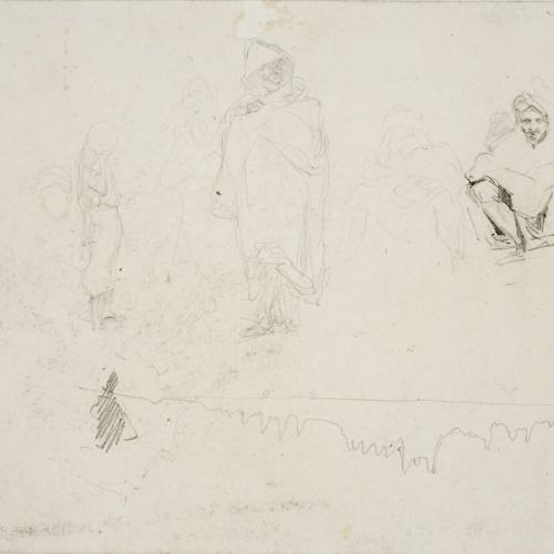 Marià Fortuny - Marroquins i estudi de cavall (anvers) / Marroquins (revers) - Cap a 1860-1862 [1]