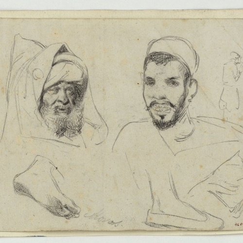 Marià Fortuny - Study of Moroccans - Circa 1860-1862