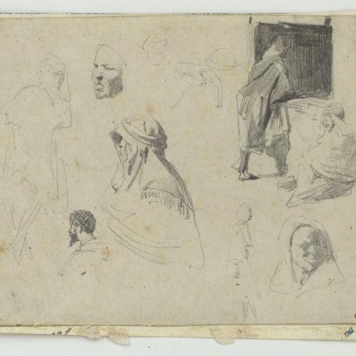 Marià Fortuny - Moroccans - Circa 1860-1862