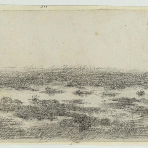 Marià Fortuny - Lagunas delante las trincheras (Lagoons in front of the trenches) - Circa 1860