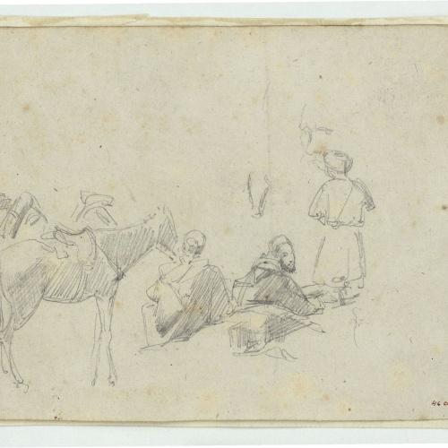 Marià Fortuny - Marroquins i cavalls - Cap a 1860-1862