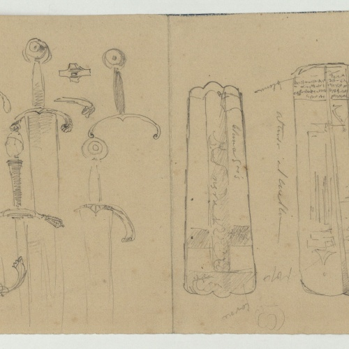 Marià Fortuny - Swords and pieces of armour - Circa 1860-1862