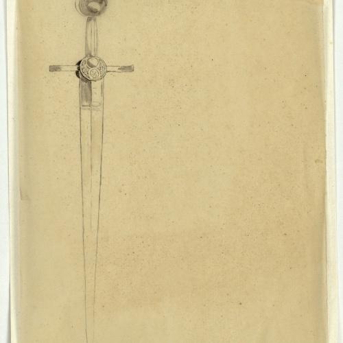 Marià Fortuny - Calc [?] d'espasa d'estil musulmà - Cap a 1870-1872