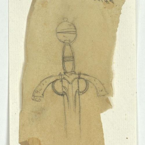 Marià Fortuny - Calc de pom d'espasa - Cap a 1870-1872