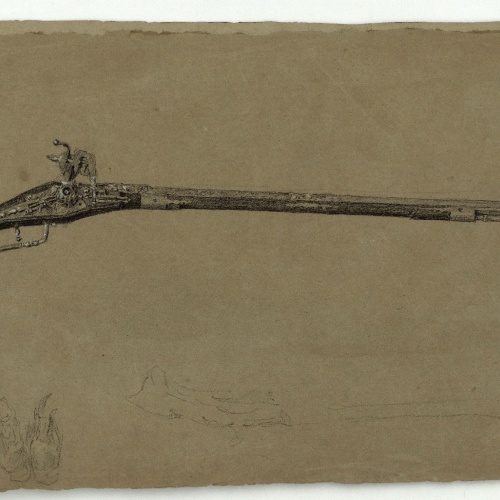 Marià Fortuny - Long Moorish muskets - Circa 1860-1862