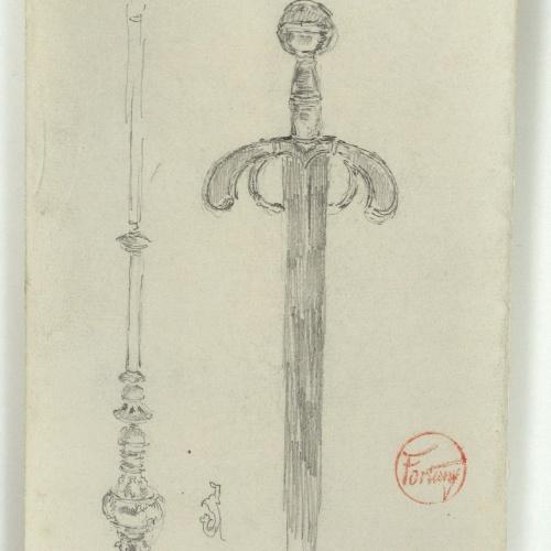 Marià Fortuny - Cetro de Isabel la Católica y espada de Fernando el Católico - Hacia 1867-1872
