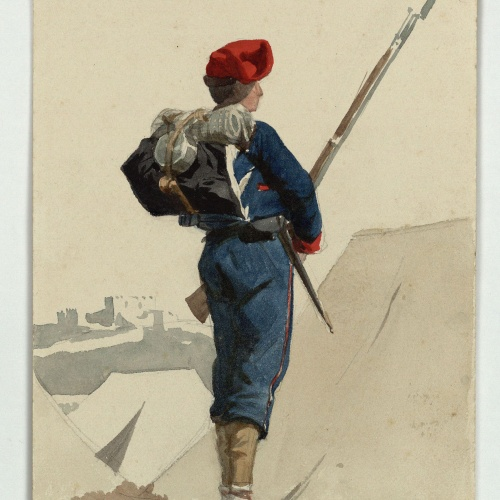 Marià Fortuny - Catalan volunteer for the War in Africa - 1860