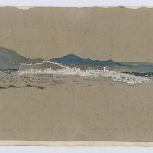 Marià Fortuny - Tetuán vista desde la altura de Benigomar (Tetouan seen from the heights of Benigomar) - 1860