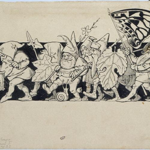 Apel·les Mestres - Gnoms. Il·lustració per al poema «Liliana» d'Apel·les Mestres - 1905