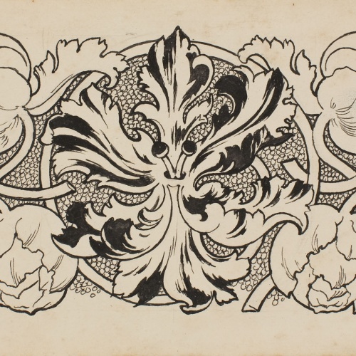 Apel·les Mestres - Geometrically composed floral border. Page heading for Apel·les Mestres's poem 'Liliana' - 1902