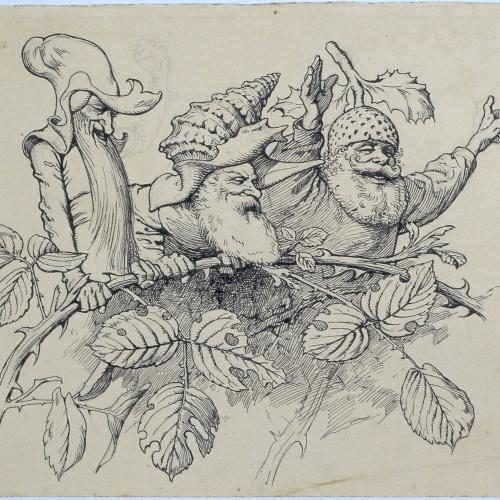 Apel·les Mestres - The host. Illustration for Apel·les Mestres's poem 'Liliana' - 1905
