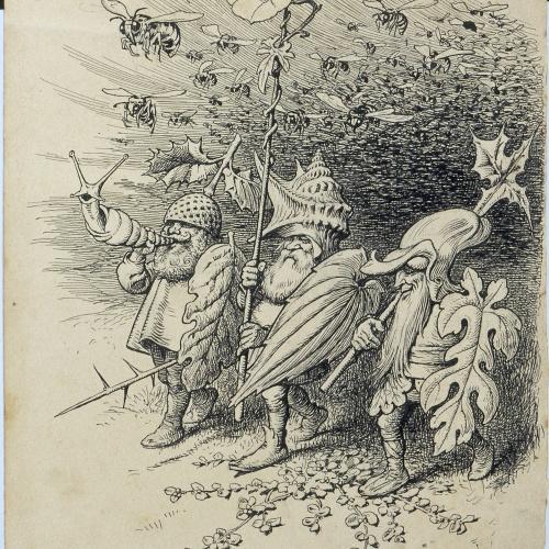 Apel·les Mestres - Armament. Illustration for Apel·les Mestres's poem 'Liliana' - 1905