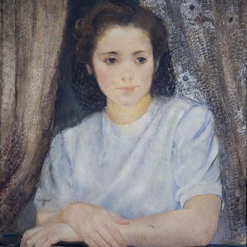 Olga Sacharoff - Nena al balcó - Cap a 1951
