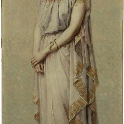 Francesc Masriera - Portrait of Camil·la Fabra in Greek Clothing - 1888